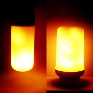 Image 3 - Ampoule LED Flame Effect Flickering Light Bulbs E27 220V 9W Lampara Room Lighting Corn Lamp Bulb Bombilla Lights Xiaomi Lampada