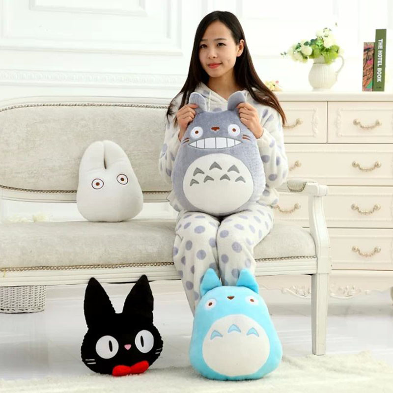 Totoro Plush Soft Stuffed Pillow White Toys | Anime Crazy ...