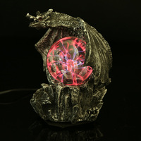 Domineering dragon modeling lighting lightning static crystal magic ball handicraft decoration Home Furnishing Ornament