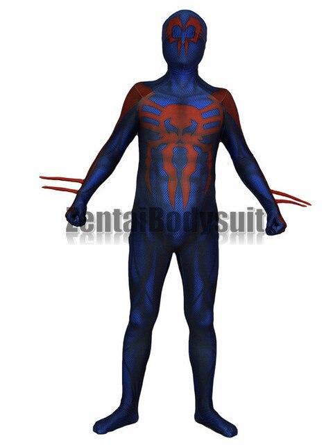 3D Druck Spider man 2099 Kostüm Spiderman Fullbody Halloween Cosplay ...