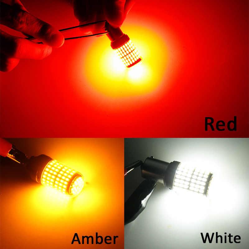 RXZ-feux arrière de clignotant T20 LED W21/5W 7443 7440 W21W P21W PY21W 3014 144SMD LED, pour feux de stop Canbus DC 12-24V ambre, 1 pièce