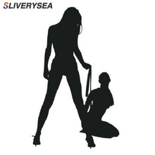 SLIVERYSEA, automóvil, motocicleta, hermosa mujer Sexy en Bikini, pegatinas decorativas para pared, pegatina de coche de dibujos animados, negro/blanco # B1136