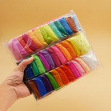 12pcs 24pcs 36pcs/bag Colored Playdough Light Clay Toys Slime Air Dry Hand Kid Casting DIY Tool Soft Plasticine Toy Polymer Clay(China)
