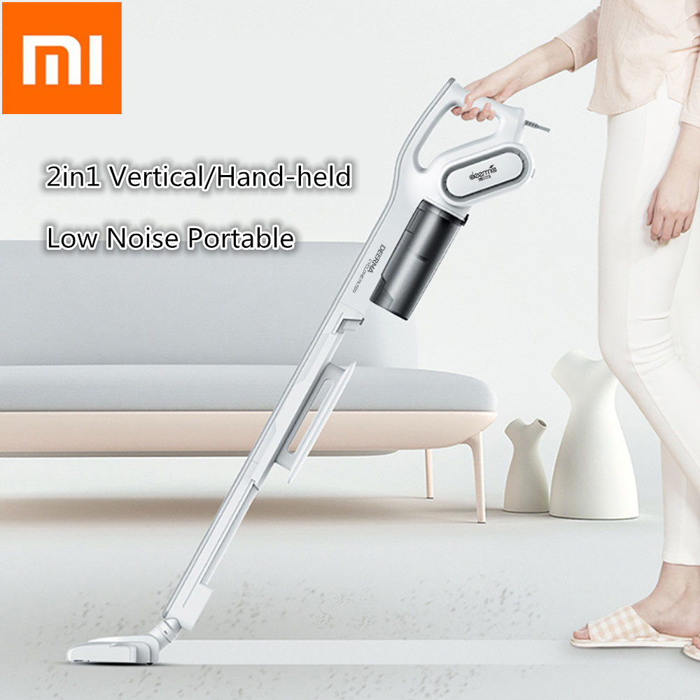 Xiaomi Deerma DX700 2-In-1 Handheld Vacuum Cleaner With Large Capacity Dust Box Low Noise Triple Filter Vertical Dust Collector
