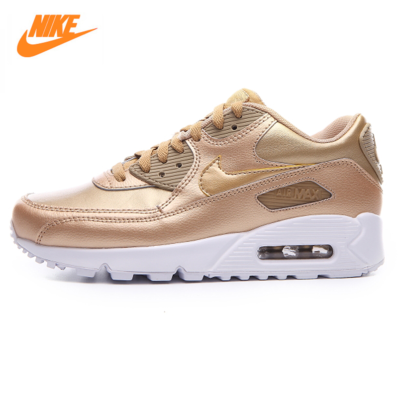 Nike AIR MAX 90 LTR GS New White Powder Champagne Women 's Running Shoes Sneakers Sports nike air max 90 красно белые