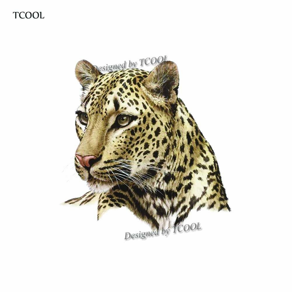 HXMAN Leopard Temporary Tattoo Sticker Animal Tattoos For Women Fashion Sexy Body Art Hand Fake Tatoo 9.8X6cm A-322