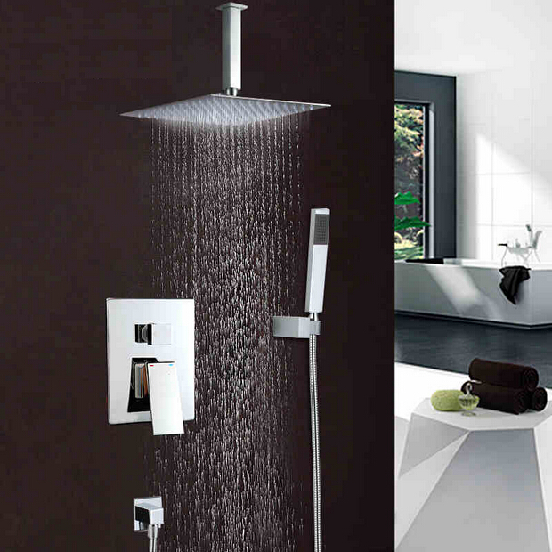 Becola shower set into the wall type shower faucet copper dual control tap air injection type - Types of showers for your home ...