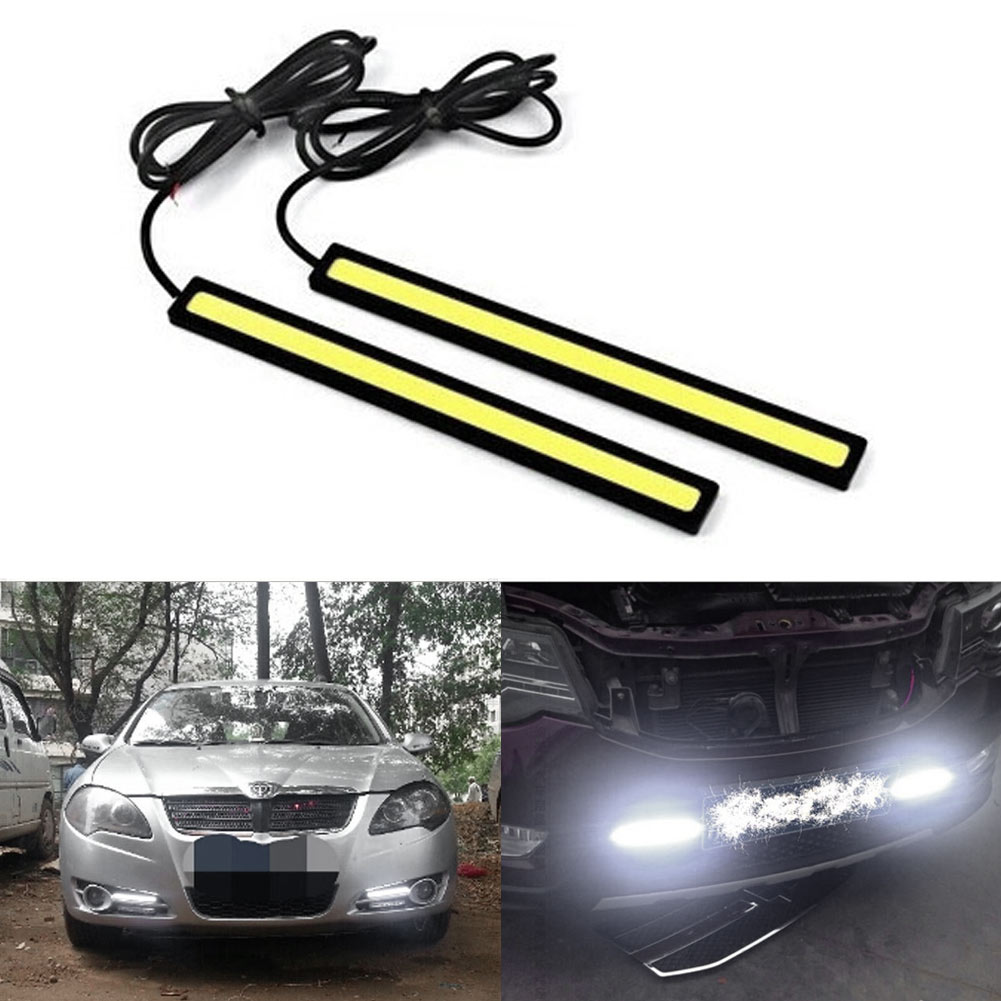 LED Bulb Super Bright 6W COB LED Car-Styling Auto Decorative Atmosphere Lamp   Driving Strip Light Waterproof  Fog Lamp