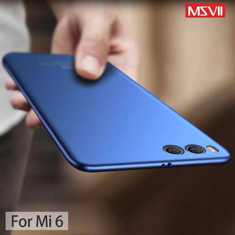 Чехол для Xiaomi mi 6 MSVII Жесткий PC Cover полная защита ультратонкий с матовой поверхностью чехол для Xiaomi mi6 mi 6 случаев телефона Coque
