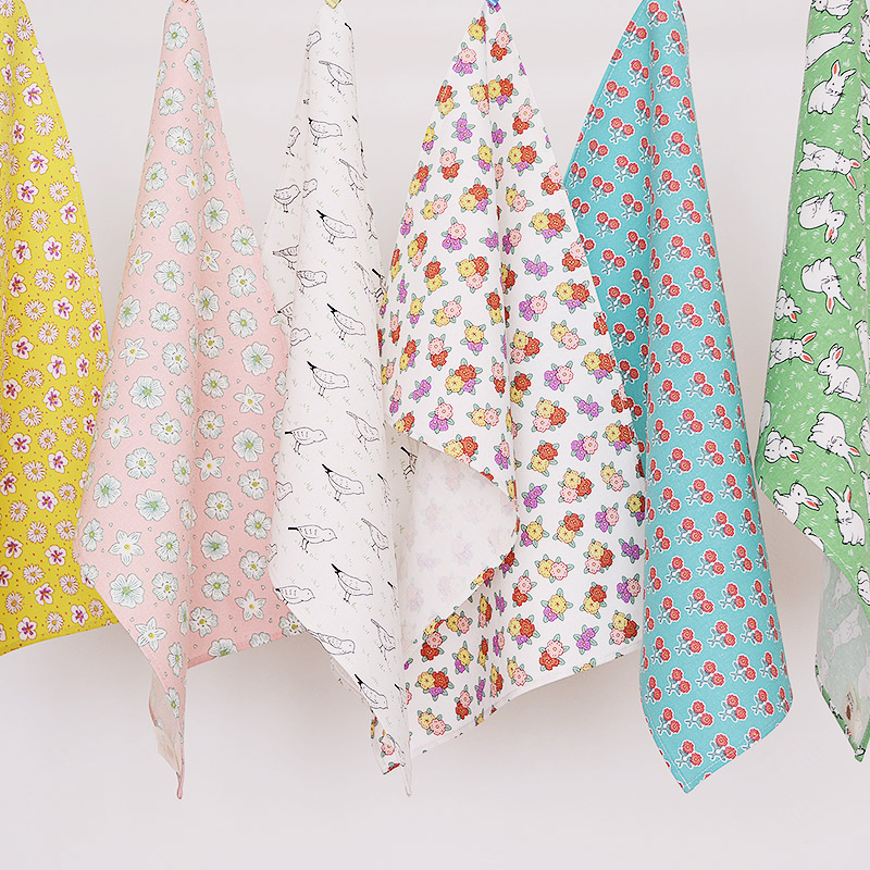 Pastoral Style Floral Rabbit Bird cotton mats pads table cloth placemats rectangle table decoration accessories doilies 46*30cm