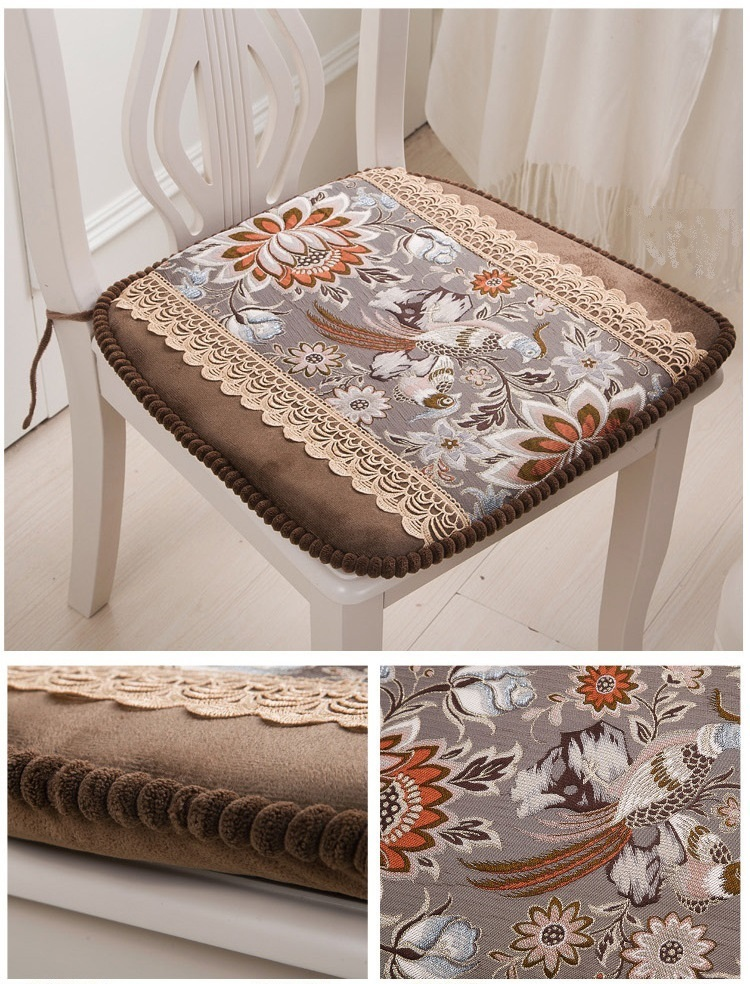 Continental seat cushions Royal stool coffee brown color North American popular stool cloth mat free shipping