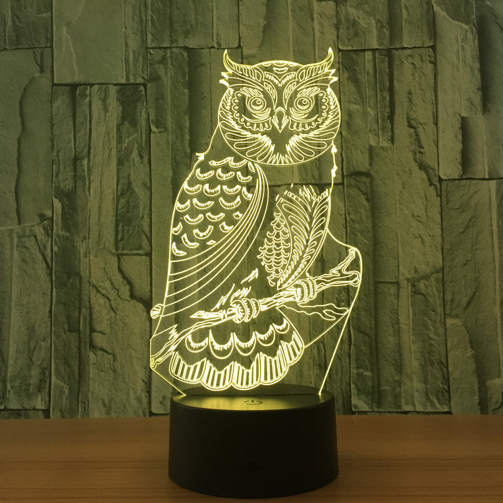 N659 Night Owl Action figure Model Style LED lamp 7 Color Changing Atmosphere Bedroom Lamp Home Table Decor lamp