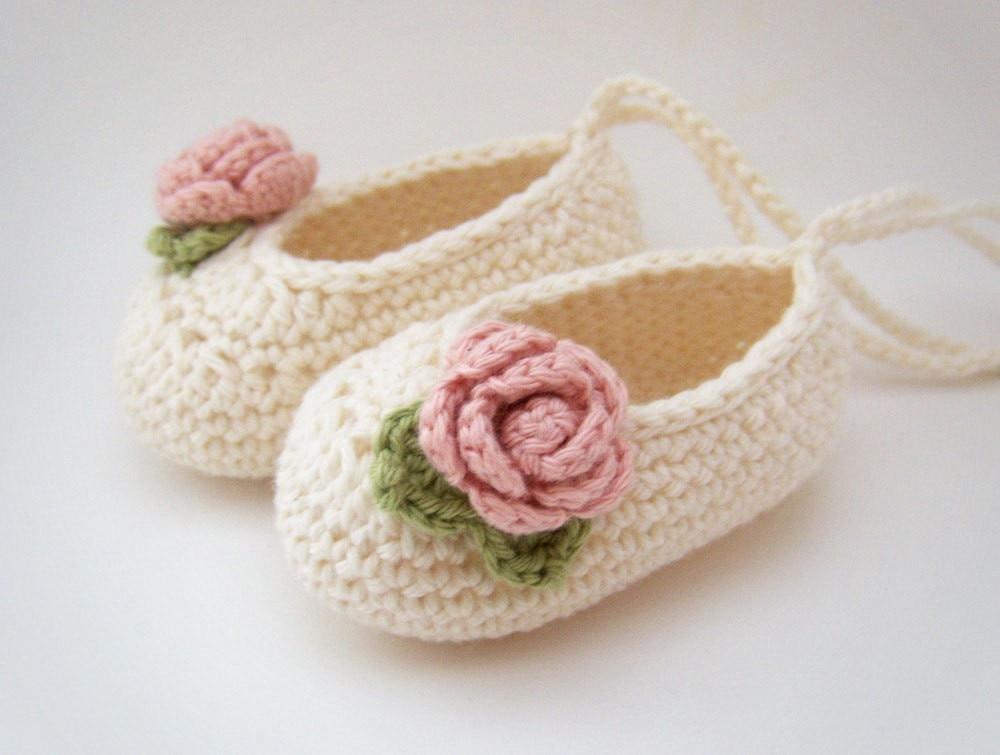 Baby shoes yarn shoes baby needle woven