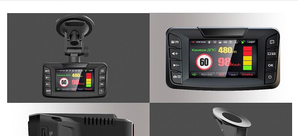 Ruccess Radar Detectors 3 in 1 DVR Radar Detector GPS Anti Radar for Car Full HD 1296P Car Camera 1080P Video Recorder Auto (11)