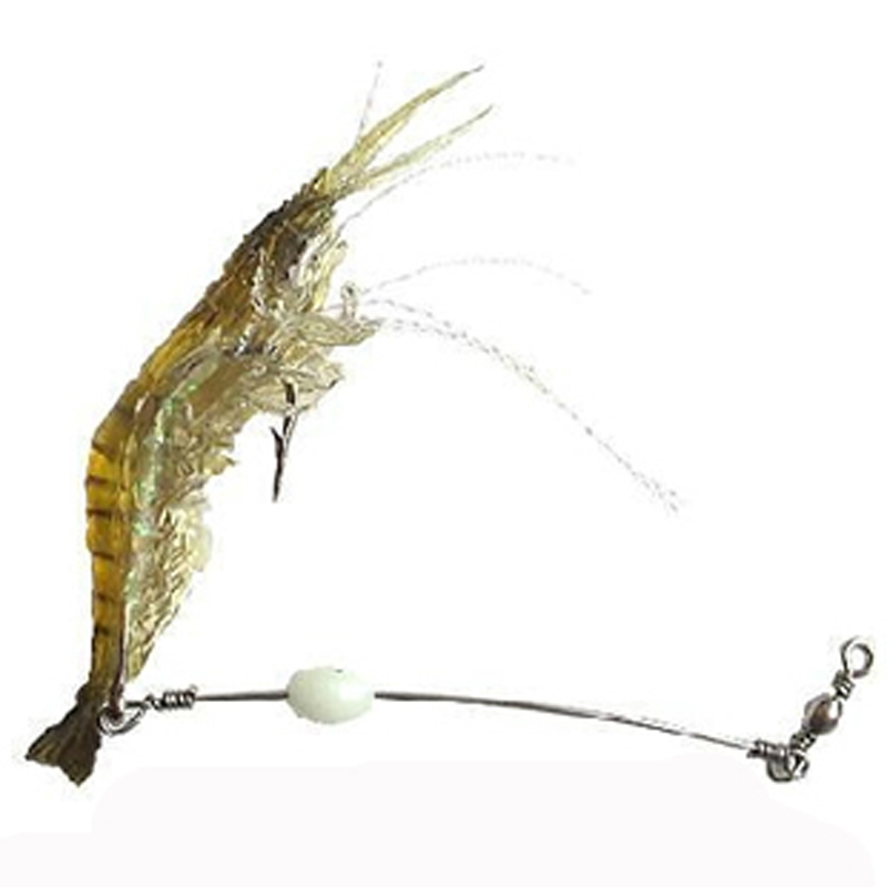 10CM 6G 5PCS Luminous Soft Lures Fake Shrimp Lures/Hooks Soft Baits Soft Fishing Lures Fishing Baits Artificial Baits NR0022 lifelike earthworm style fishing baits 5 pcs