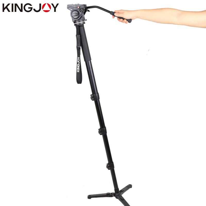 Kingjoy MP4008F + VT-3510 профессиональный монопод Dslr для всех моделей камеры штатив Стенд Para Movil гибкий Tripe Stativ SLR DSLR