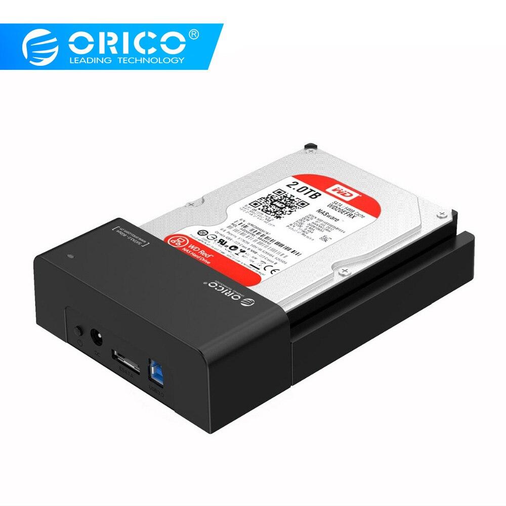 ORICO USB 3,5 & eSATA 2,5 & 2,5 SATA жесткий диск Док-станция инструмент бесплатно для 3,5 дюймов и 3,0 дюймов HDD-черный (6518SUS3-V2)