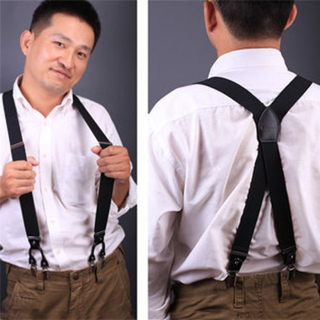 148f53ece873 2017 New Fashion Leather 6 Clips Suspender Male Vintage Casual Suspenders  Commercial Western-style Trousers Man's Braces Strap