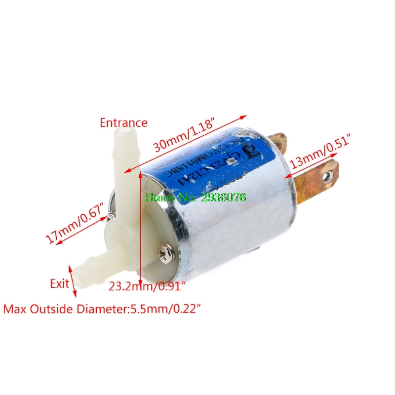 DC 12V Normally Closed Type Electronic Control Solenoid Discouraged Air Valve Support