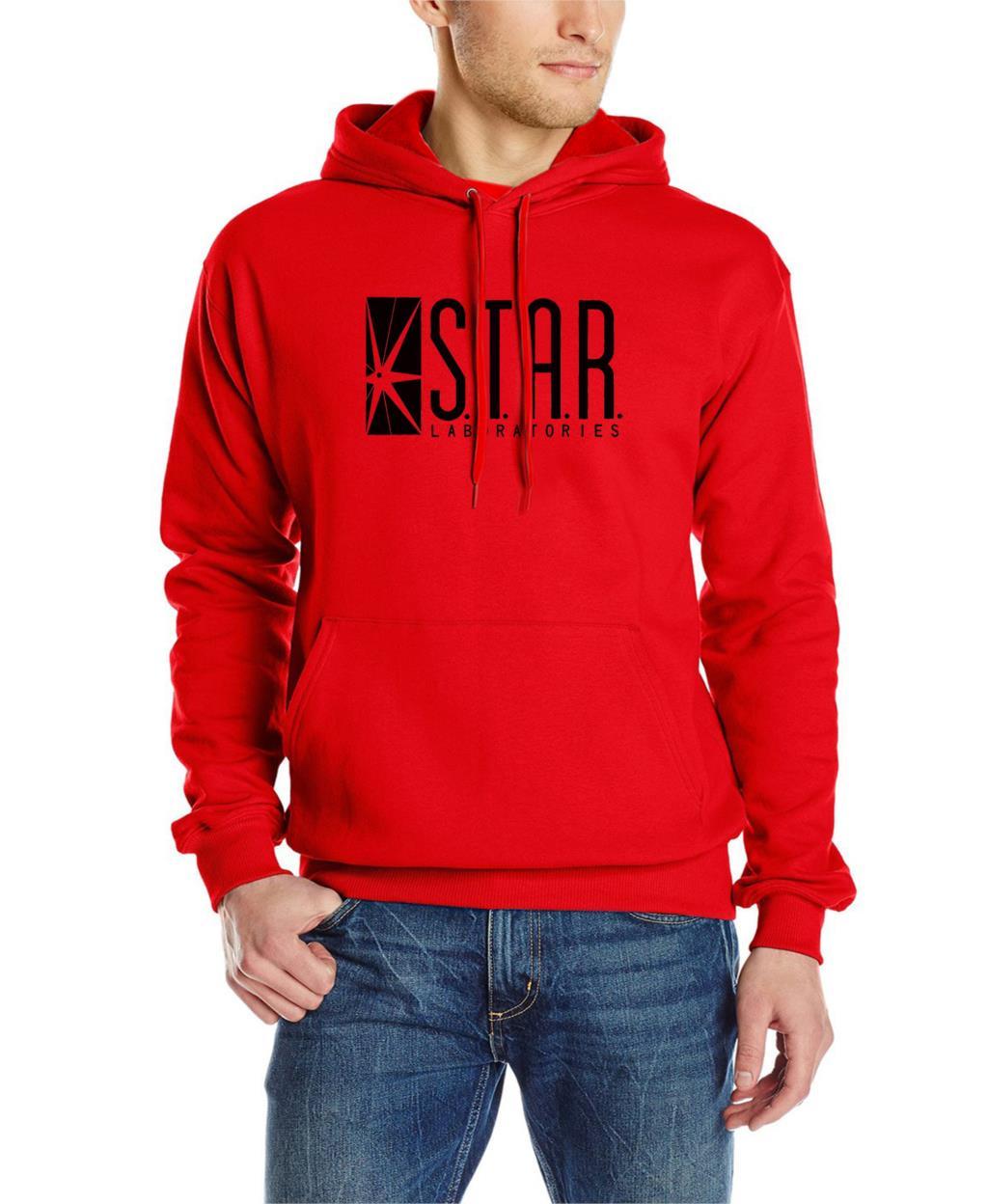 autumn brand hoodies superman series men hoody STAR S.T.A.R.labs jumper the flash gotham city comic books black sweatshirt 8