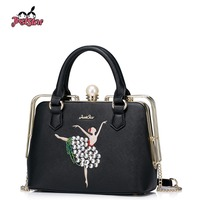 JUST STAR Women S PU Leather Handbags Ladies Fashion Embroidery Party Purse Female Chain Evening Frame