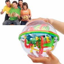 3D Intellect Puzzle Ball Maze Game for Children Early Educational Metal Toy Wooden Learning Creativity Kids Dropshipping J11(China)