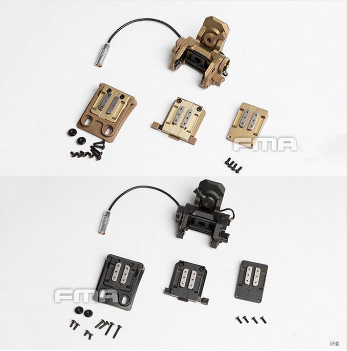 Nouveau FMA tactique fonctionnelle GSGM NVG monture DE casque TB1301 BK/DE