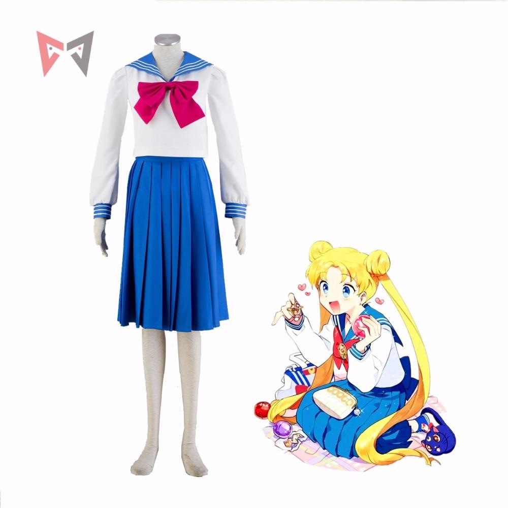 Athemis New Anime Sailor Moon Tsukino Usagi cosplay costume school uniform Any Size