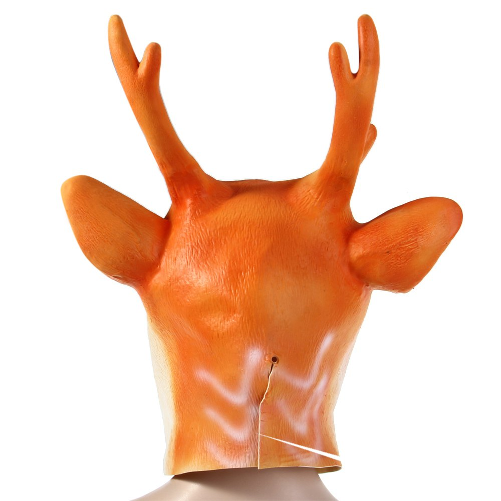 Hot Sell Christmas Party Cosplay Latex Sika Deer Head Mask for ...