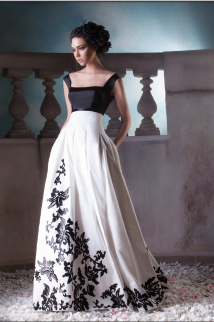 Robe longue blanc haute couture