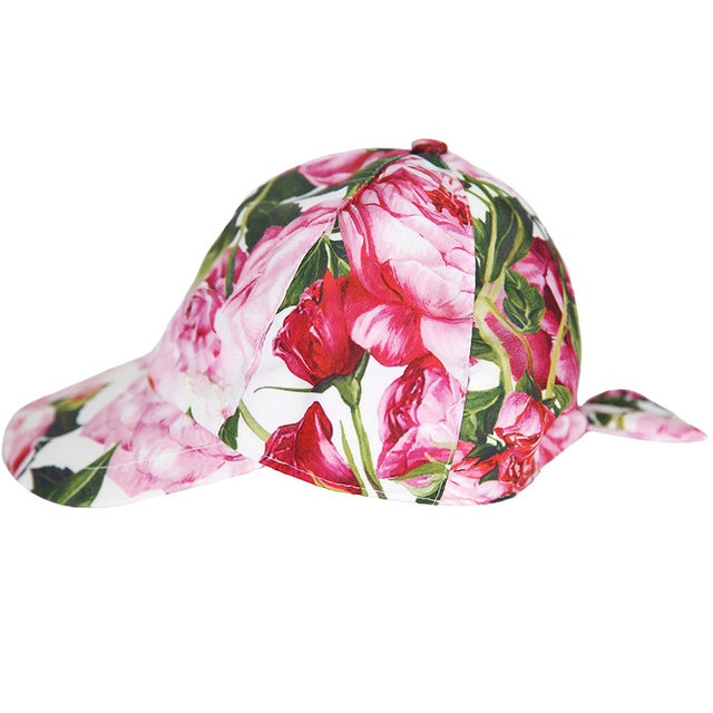 57f45afe6 W.L.MONSOON Girls Summer Hats 2018 Brand Kids Flower Peaked Cap Baby Bucket  Hats for Girls Caretto Print Children Sun Hat