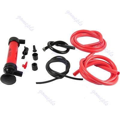 Car Tire Water Oil Fuel Change Transfer Gas Liquid Pipe Siphon Tool Air Pump Kit