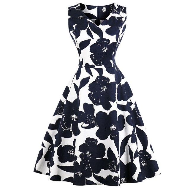 Wipalo цветочный принт Винтаж платье для женщин осень высокая талия булавки до платья для ретро Hurburn S 1950 s рокабилли платья вечеринок Vestidos