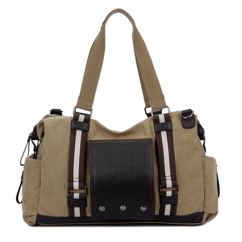 ФОТО The high quality brand canvas A man traveling bag Contracted large capacity cotton men handbags Cowboy leisure messenger bags