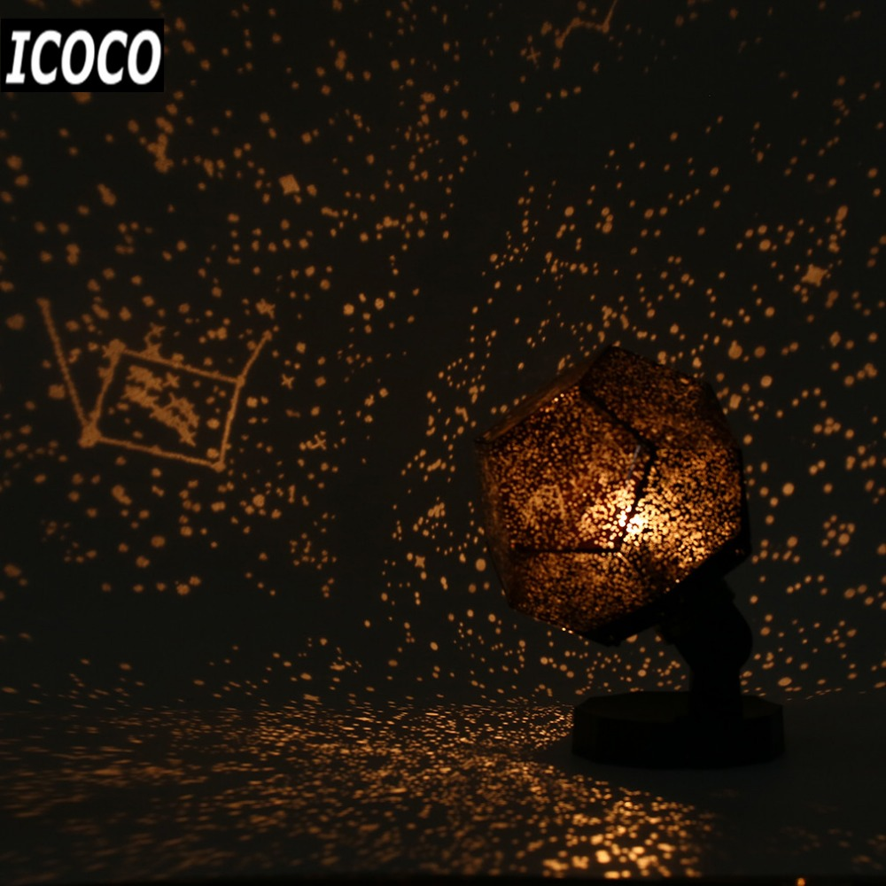 ICOCO Celestial Star Astro Sky Projection Cosmos Night Lamp Starry Night Romantic Bedroom Decoration Gadgets For kid Home led projector lamp colorful star master sky starry moon night light cosmos master for children gift led projection lamp