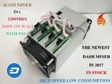 X11 DASH minero Pinidea Drx 1150 M lámpara de minero más nuevo en 2017 (CON FUENTE de ALIMENTACIÓN) consumo de energía 820 W en la pared, 4 hashboards alta tasa hash