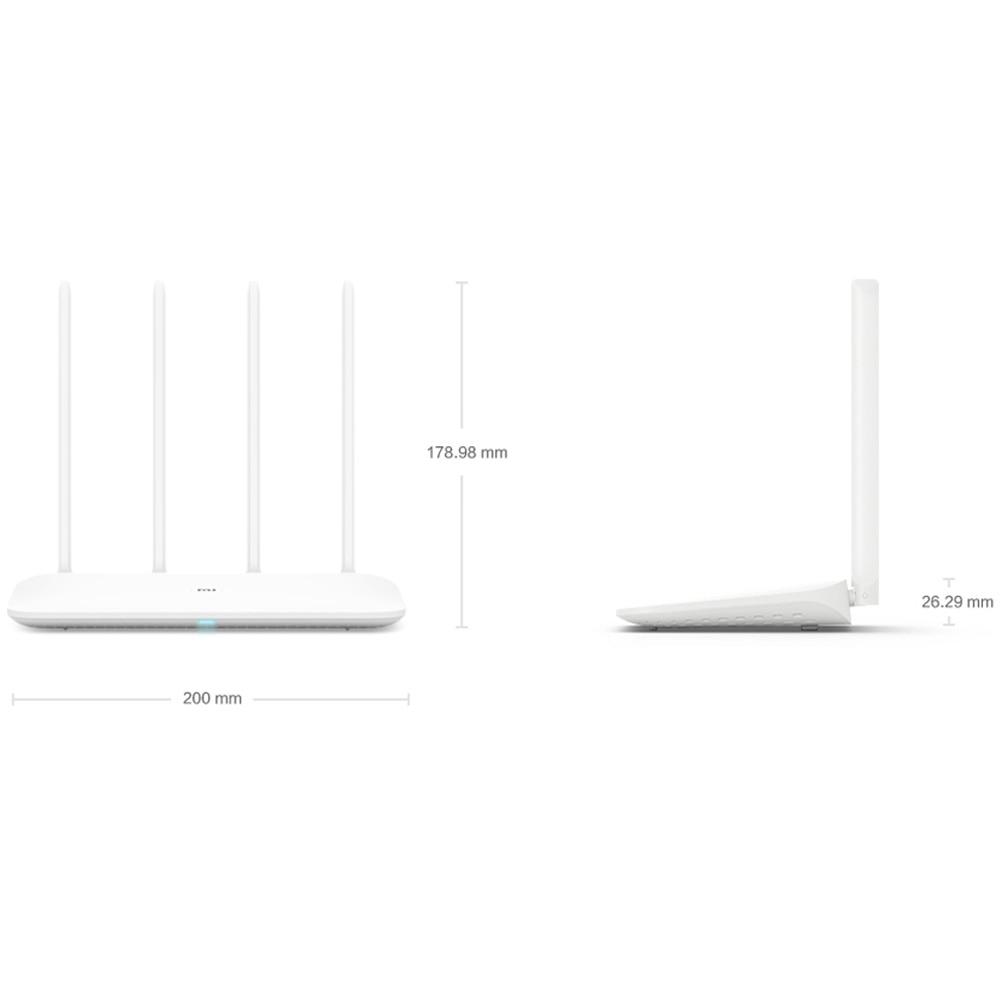 Xiaomi mi Router WIFI 4 WiFi repetidor 1167 Mbps Doble Banda Dual Core 2,4G 5 Ghz 802.11ac cuatro antenas enrutadores inalámbricos de Control de aplicación - 2