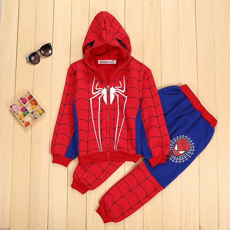Children Clothing Autumn Winter Toddler Boys Clothes Sets Spiderman Costume Kids Clothes For Boys Clothing Suit 3 4 5 6 7 Year 33