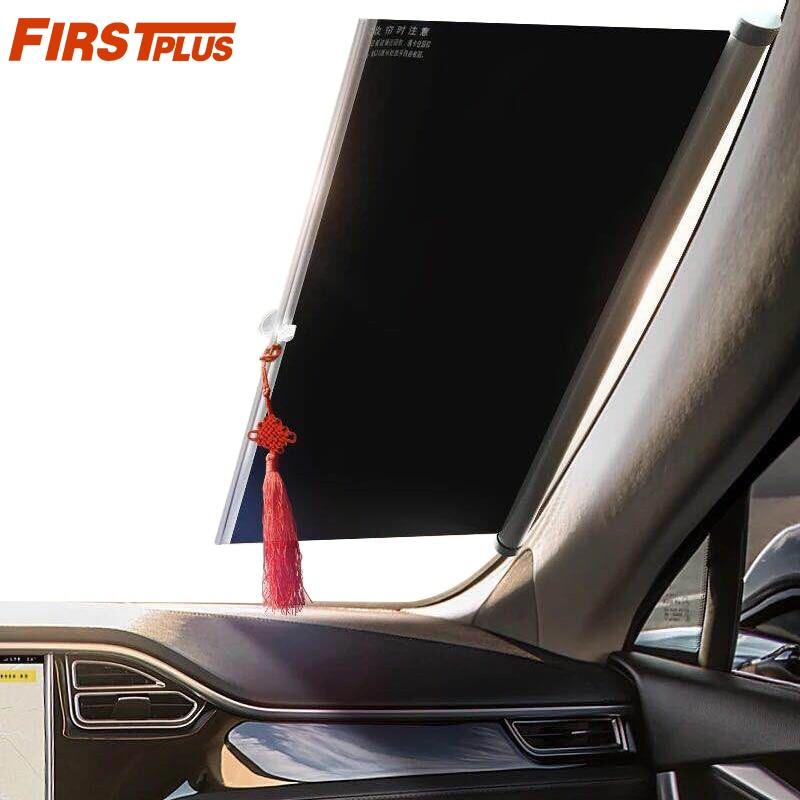 1450mm Retractable Car Windshield Visor Sun Shade Auto Front Rear Window  Blinds Sun shades Anti UV Sunshades Fan-Shaped d8b818c8a20