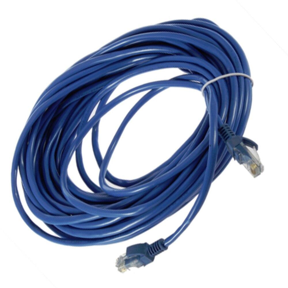 50ft RJ45 CAT5 CAT5E сети Ethernet LAN маршрутизатор патч-кабель синий 15 м Оптовая Прямая доставка