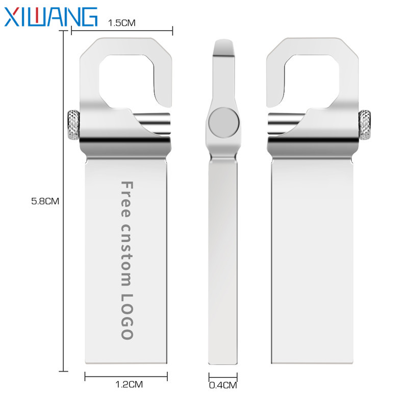 Image 2 - usb flash drive 32gb metal usb 2.0 pendrive 16gb pen drive 64gb 4gb 8gb high speed pen drive 128gb flash memory stick Free logo-in USB Flash Drives from Computer & Office