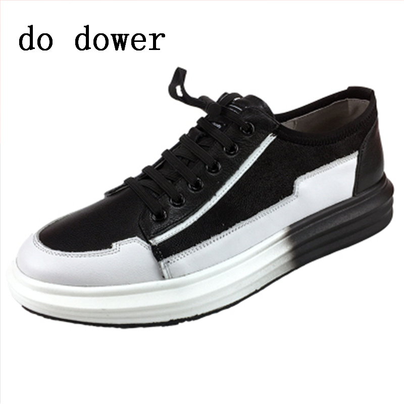 Spring New Hot Men Casual Shoes Luxury Trainers Summer Male Young Genuine Leather Shoes Lace-up Flats Graffiti Print Sneakers new men genuine leather shoes luxury trainers summer male adult shoes casual flats solid spring black lace up shoes
