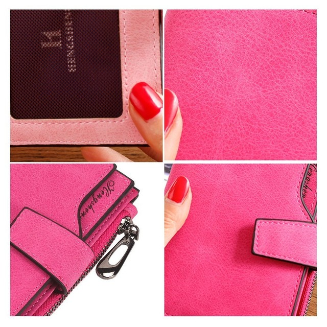 Short Hasp Wallet for Women