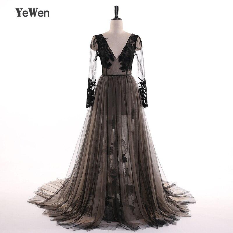 8d23ece89ee Пикантные черные сапоги кружева вечернее официальное платье Вечерние  Элегантные одежда с длинным рукавом посмотрите на дешевое