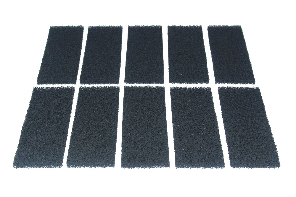 Pack of 10 Compatible Carbon Foam Filter Pads Replacement