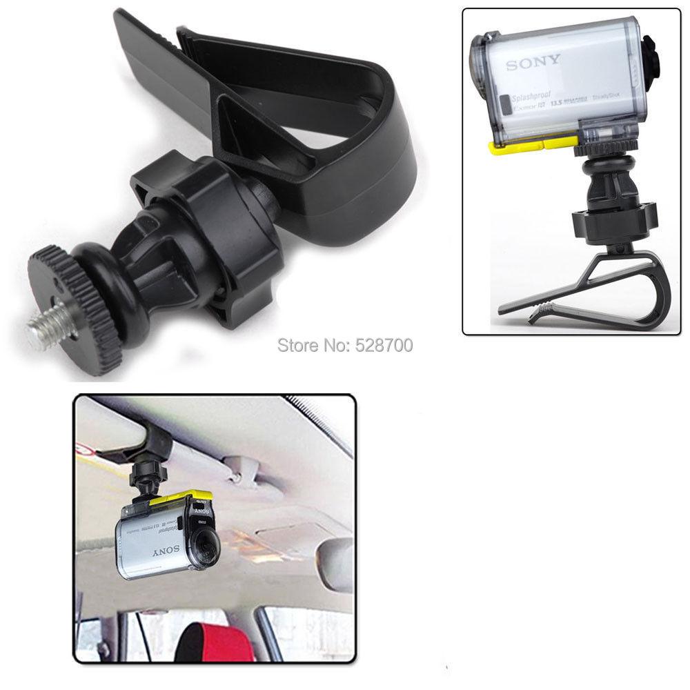Digital Camera DV Car Sun Visor Mount Outdoor Sports Tripod Kit for Sony FDR-X1000V/W 4K Action Cam HDR-AS15 AS20 AS30V
