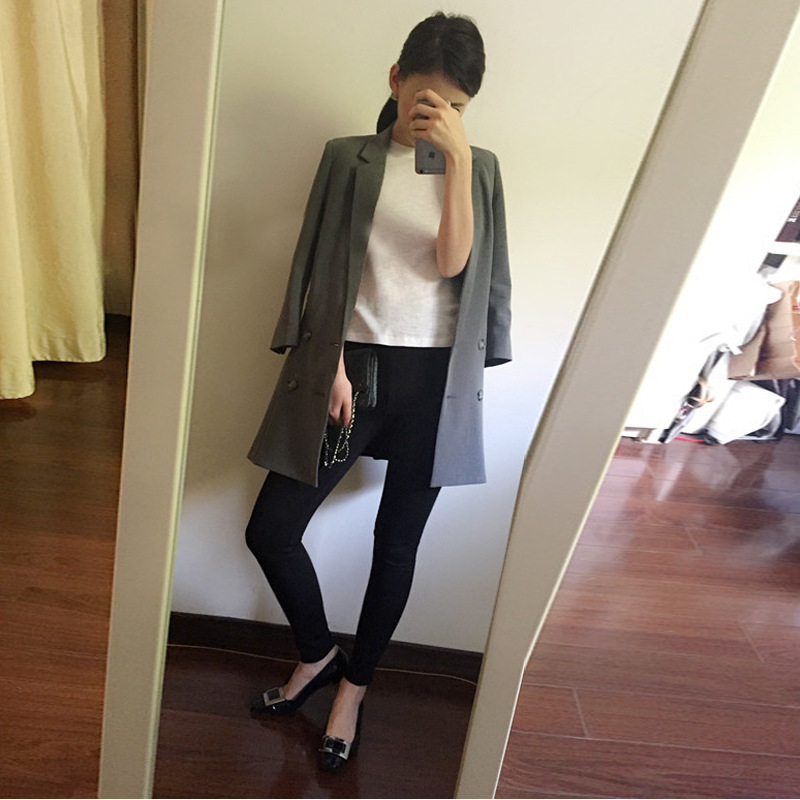 Korean Fashionable Small Suit Seven-Sleeve Lady's Small Suit
