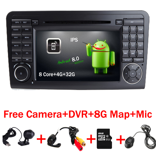 2 Din Android 8.0 Car Radio DVD GPS player FOR Mercedes Benz ML W164 GL X164 ML300 ML350 ML450 ML500 GL350 GL450 GL500 GL550 4G все цены