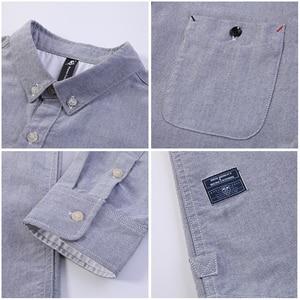 Image 5 - パイオニアキャンプ新長袖服シンプルな固体シャツ男性ソフト綿 100% メンズ ACC801460