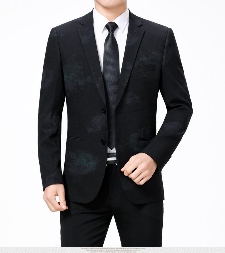 WAEOLSA Stylish Men Slim Fit Blazers Dark Flroal Print Suit Jackets Man Fashion Blazer Masculino Smart Casual Costume Mens Blazers Office (8)